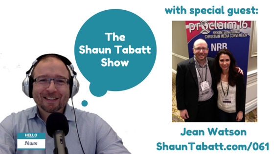 EPISODE 61: JEAN WATSON – STEADY MY GAZE – NRB 2016 INTERVIEW [PODCAST]