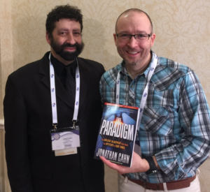 Shaun Tabatt interviewing Jonathan Cahn at NRB 2018 in Nashville