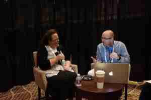 Shaun interviewing Kentucky County Clerk Kim Davis at NRB 2018 in Nashville